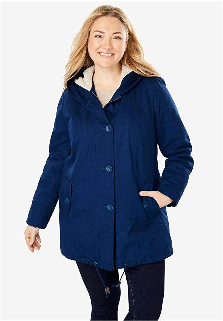 Woman Within Plus Size Faux Shearling Parka 28 W 183852931mk28W~28W