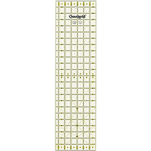 Prym 6 x 12-inch Universal Ruler With Inch Angles Scale 12