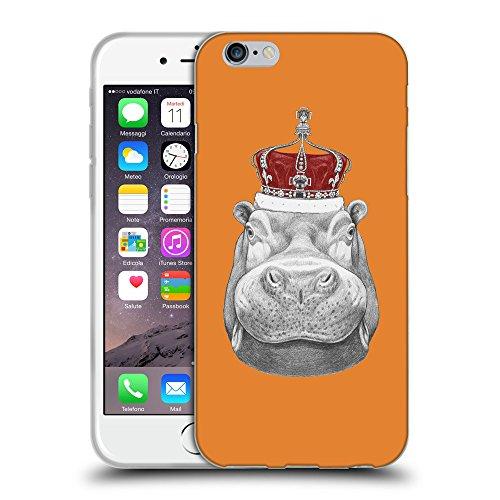 """GoGoMobile Coque de Protection TPU Silicone Case pour // Q05260623 hippopotame Cadmium Orange // Apple iPhone 6 4.7"""""""