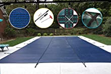 WaterWarden SCMB1220 Safety Pool Cover 12X20, Blue Mesh