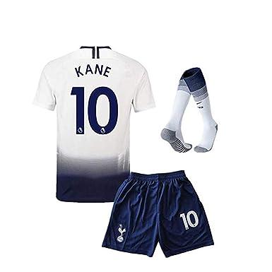 best website 0f7d6 40881 #10 Kane Tottenham Hotspur Kids/Youth Home Boys Soccer Jersey & Shorts &  Socks 18-19 Season White