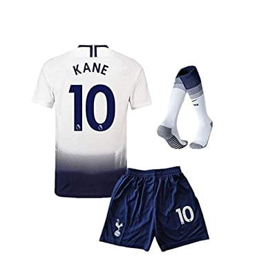 7ad9565d7 SUIROSE #10 Kane Tottenham Hotspur Kids/Youth Home Boys Soccer Jersey &  Shorts &