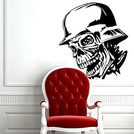 haotong11 Calavera Casco de Halloween Etiqueta Punk Death Decal ...