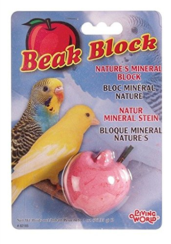 Living World Mineral Block, Apple (for Parakeets), 28.35 Grams ()