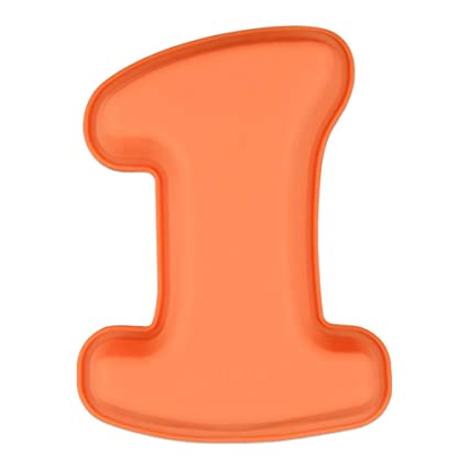 JasCherry Forma de 1 de Número Moldes de Silicone - Premium Antiadherente Moldes para Tartas,