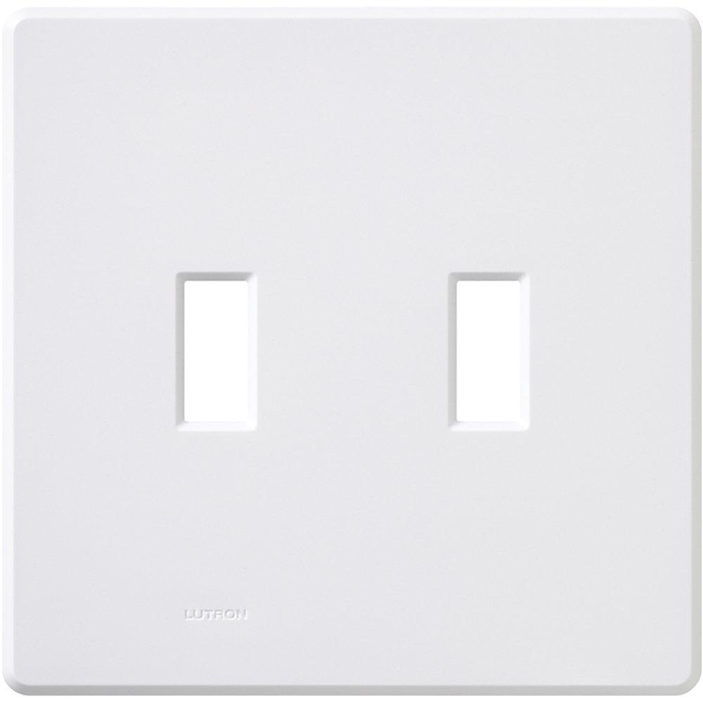 Lutron FG-2-WH 2-Gang Fassada Wall Plate, White