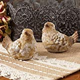 The Country House Lil Rustic Birds Aged Brown 3 x 2 Terra Cotta