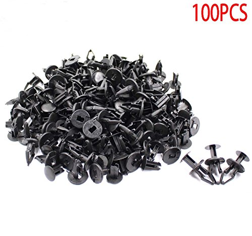 GooDeal 100pcs Fender Liner Clip Push-Type Fastener Retainer 11589292 for GMC GM (Inner Fender Well Clips)