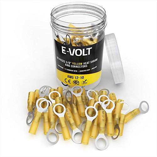 E-VOLT Heat Shrink Crimp Connectors - 80 PC 3/8