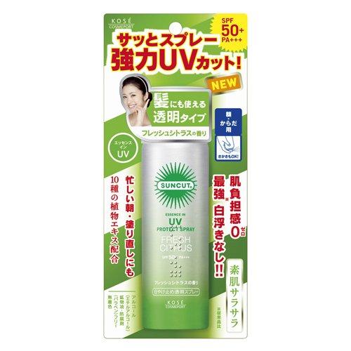 Kose Sunscreen Spray Transparent (Fresh Citrus) 50g Spf50pa+++