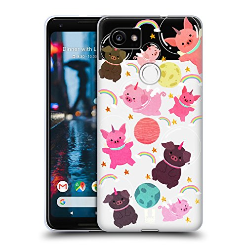 - Head Case Designs Pig Space Unicorns Soft Gel Case for Google Pixel 2 XL