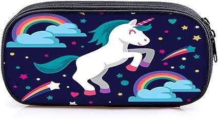 Estuche de unicornio para niña, bonito estuche de unicornio escolar para niños, color 1 20x10x5cm: Amazon.es: Oficina y papelería