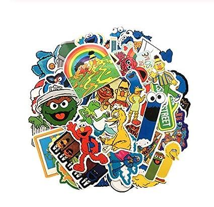 ZJJHX Sesame Street Heroes Maleta Pegatina Impermeable de Dibujos ...