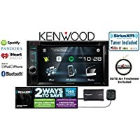 Kenwood DDX374BT In Dash Double DIN DVD Receiver w/ Built in Bluetooth, SiriusXM Satellite Radio SXV300v1 and a FREE SOTS Air Freshener