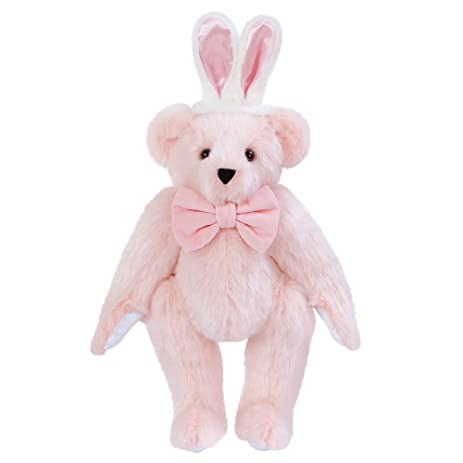 amazon com vermont teddy bear pink easter bunny bear 15 inches