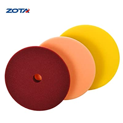 "ZOTA Foam Polishing Pad, 3-Pcs 6.5"" (165mm) Buffing Pads/Wax Pads for Car Polisher.: Automotive"
