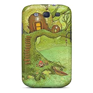 Cute Appearance Cover/tpu ICf2490WjQQ The Tree Huts Case For Galaxy S3