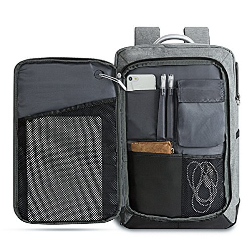 LUKATU Business Laptop Backpack Water Resistant Slim Computer Backpack Insert Organizer with Headphone Port College Backpack School Bookbag Daypack 15.6 Inch Computer for Women & Men by LUKATU