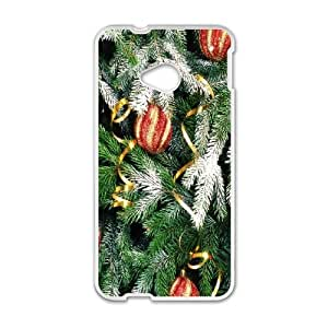 HTC One M7 Cell Phone Case White Christmas tree 2SLI_823689