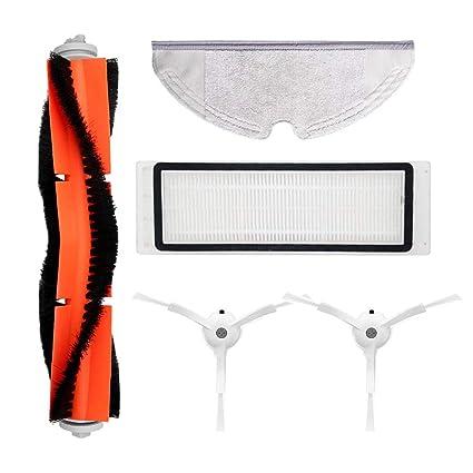 Accesorios para XIAOMI MI Robot Vacuum 2 Pcs Side Brush 1 Pcs HEPA Filter 1 pcs Main Brush 1 Pcs Mop paños: Amazon.es: Hogar