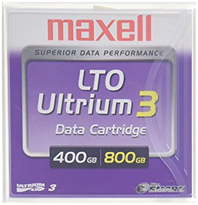 Maxell LTO Ultrium 3 400/800GB 1,000,000+ Head Passes Tape Cartridge by Maxell