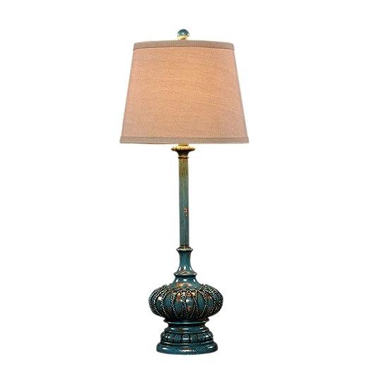 NIUZIMU G-ZM Gemstone Blue lámpara de Mesa Dormitorio mesilla ...