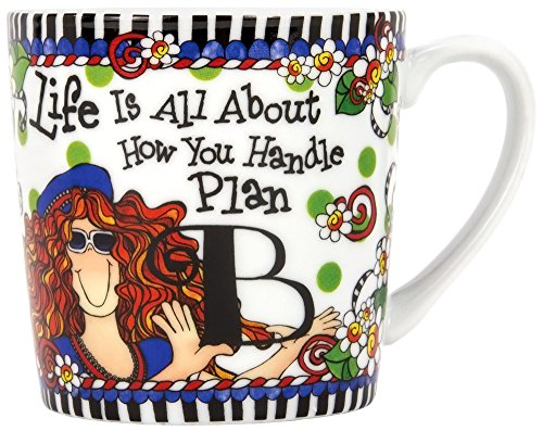 Brownlow Kitchen Brownlow Gifts Gift Mug, Suzy Toronto Plan B, Black/White