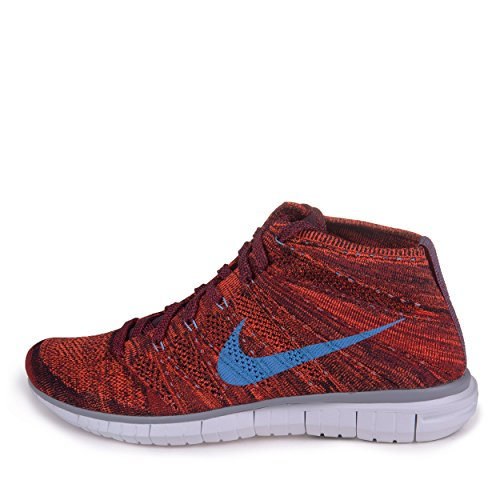 b281c49644 Nike Mens Free Flyknit Chukka Cinnamon Brown University Blue Woven Running
