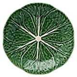 Bordallo Pinheiro Cabbage Green Dessert Plate, Set of 4