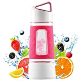 Fruit Infuser Water Bottle by Fruition - Instant Infusion Basket for Fruit and Tea - Durable, Leak Proof, 20oz Capacity, BPA Free - Pink