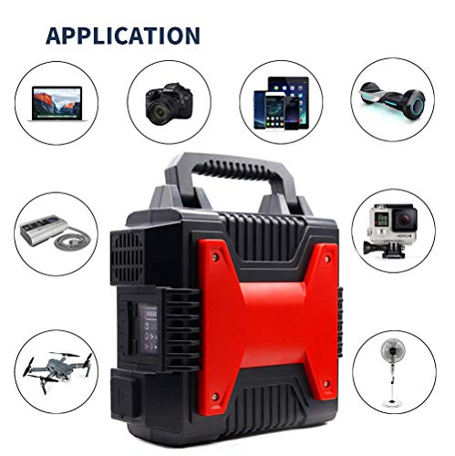 B&H-ERX Portable Power Station 266Wh Quiet Gas Free Camping Generator UPS Lithium Power Supply with Dual 110V AC Outlet, 2 DC Ports,2 USB Ports,for Camping Travel Fishing CPAP Emergency(2020 Upgrade) Uncategorized