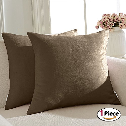 PONY DANCE Solid Color Pillow Cover Decorative Solid Super S