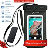iphone 4 running belt - Voxkin Premium Quality Universal Waterproof Case with Armband, Compass, Lanyard - Best Water Proof, Dustproof, Snowproof Pouch Bag for iPhone 7, 6S, 6, Plus, 5S, Samsung Galaxy Phone S7, S6