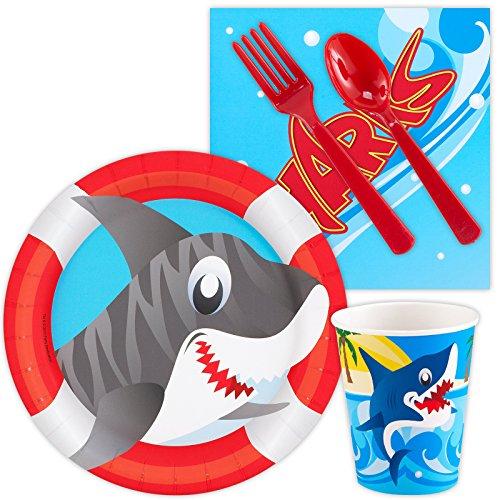 Costume Supercenter BBKIT435 Shark Party Standard Kit -Serves 8 ()
