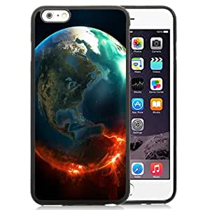 Unique and Attractive TPU Cell Phone Case Design with Fire Earth iPhone 6 plus 4.7 inch Wallpaper