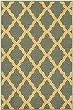Ottomanson Ottohome Collection Seafoam Color Contemporary Morrocon Trellis Design Area Rug with Non-Skid Rubber Backing, Seafoam, 8'2'' x 9'10''