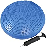 Exercise Core Balance Disc/Cushion - Great For Strengthen Core Stability and Decrease Back Pain - Air Pump Included