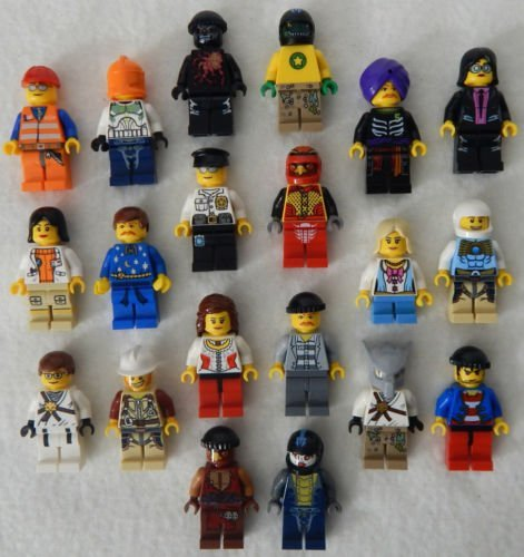 Price comparison product image 10 NEW LEGO MINIFIG PEOPLE LOT random grab bag of minifigure guys city town set