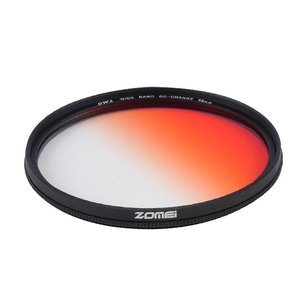 Jili Online Ultra Slim Graduated Gradual ND Lens Filter for DSLR Camera Orange 58mm