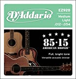 D'Addario EZ920 85/15 Bronze Medium Light Acoustic Guitar String