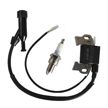Paquete de bujía y bobina de encendido PODOY para generador de motor Honda Gx240 Gx270