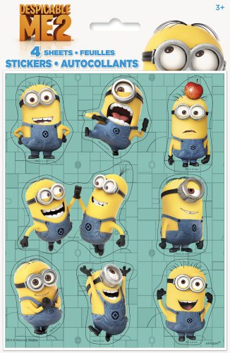 Despicable Me Sticker Sheets, (Minion Stickers)