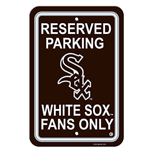 Fan Parking Sign - Official Major League Baseball Shop Authentic MLB Parking Sign - Man Cave and Bar (Chicago White Sox)
