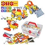 ETI Toys | STEM Learning | 148 Piece Junior Engineer Build & Play 5 Vehicle Building Blocks; Helicopter