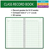 "Class Record Book for 9-10 Weeks. 50 Names. Smaller Size 7"" x"