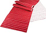 Red Dotted Line Table Runner - 72''