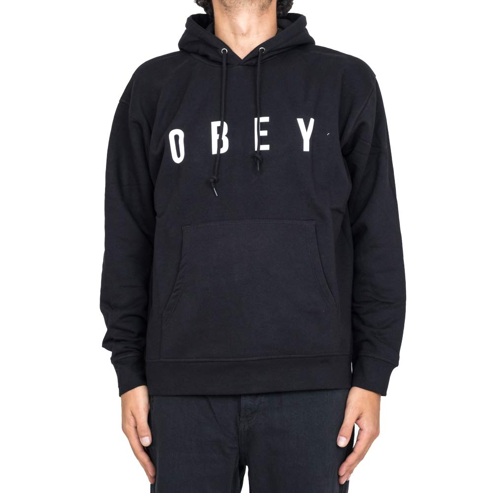Obey Anyway Hood schwarz Felpa Skate surf Snow AI18