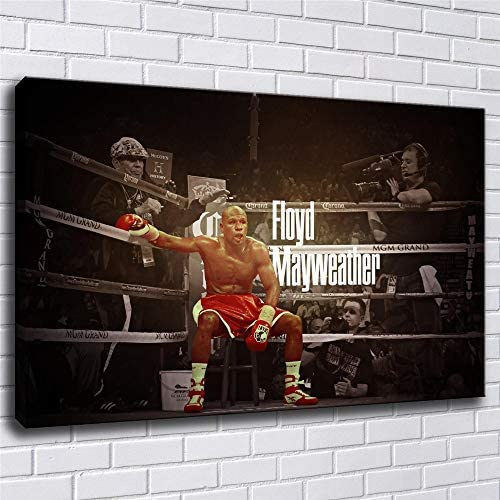 Wall art boxer Fury wilder Ali Mayweather sport Handpainted boxing letters