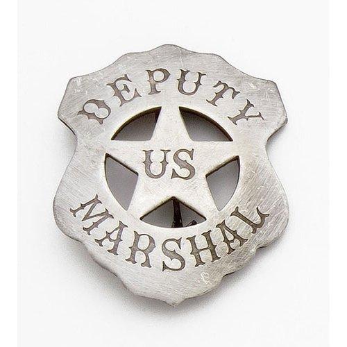 Costume Badge Deputy US Marshal Old West