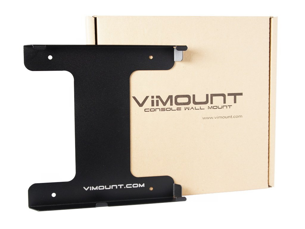 PlayStation 4 PS4 SLIM Wall Mount Holder Bracket Black - ViMount - Worldwide Shipping by ViMount